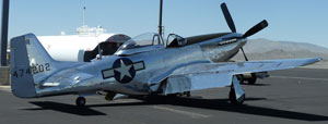P-51 Mustang at Reno-Stead Airport.