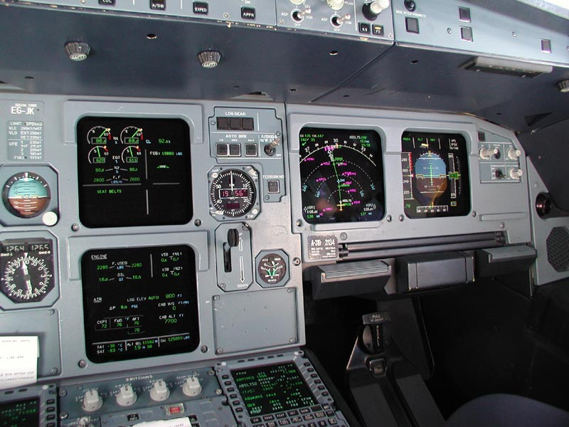 Airbus A320 FO instrument panel