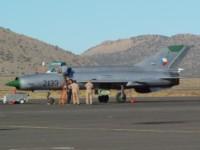 Mig-21 post flight at Reno-Stead.
