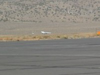 Mig-21 on landing roll at Reno-Stead.