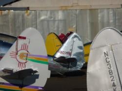 Globe Swift parking at West Coast Swift Fly-in.