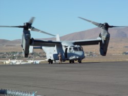 V-22 Osprey about to taxi at Reno Stead.