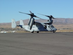 V-22 Osprey in taxi mode at Reno-Stead.