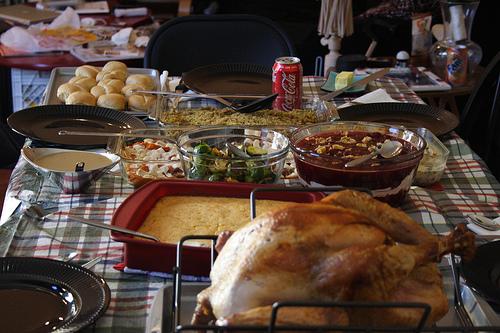 Thanksgiving Dinner Table.