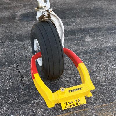 Wheel Chock Lock from Sporty's