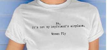 T-shirt for female pilots.