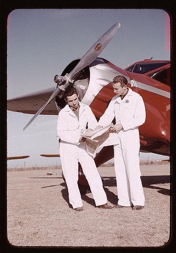 Student pilot and instructor.