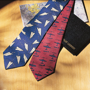 Aviation-themed ties of all kinds.
