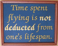 Time Spend Flying plaque.