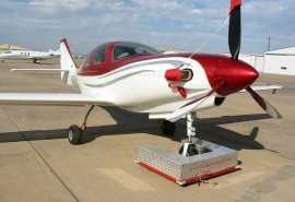 Towbot hooked to a Lancair.