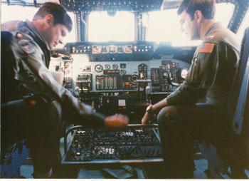 Lockheed C-5B cockpit.