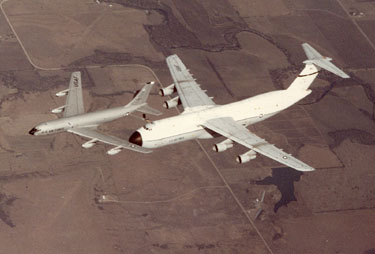 Boeing KC-135 and Lockheed C-5 Air Refueling.