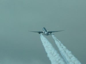 Boeing 777 on the way to Japan