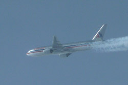 American Airlines B-777 on the way to Japan.
