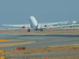 Air China A-330 taking off from Osaka, Japan.