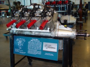 """Curtiss OX-5 engine used in the Curtiss JN-4D """"Jenny"""""""