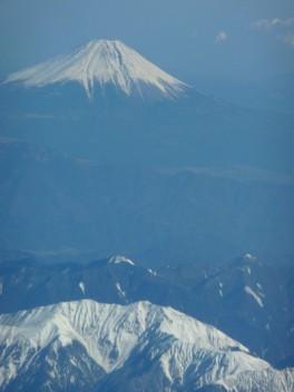Japan's Mount Fuji viewed looking east.