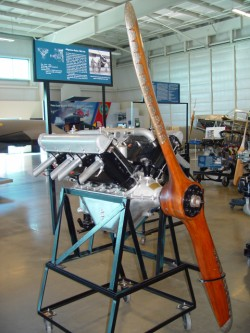 """Hispano-Suiza engine used in the JN-4H """"Jenny""""."""