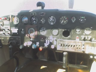 Globe Swift Instrument Panel.