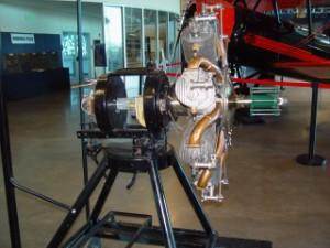 Le Rhône Rotary engine circa 1916.