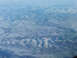 Western Russia from 35,000 ft.