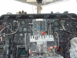 C-123K cockpit instrument panel, on the ramp at Reno, Stead Airport.