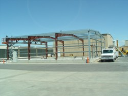 Hangar construction at Reno, Stead Airport