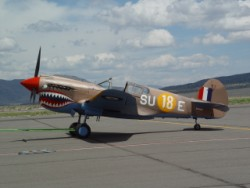 P-40 Warhawk at Reno-Stead for the 2009 PRS class.