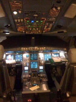 A-330 simulator cockpit