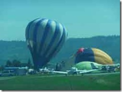 Hot Air Baloons at the Watsonville, CA airport.