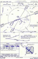 Instrument approach chart for Joliet, IL.