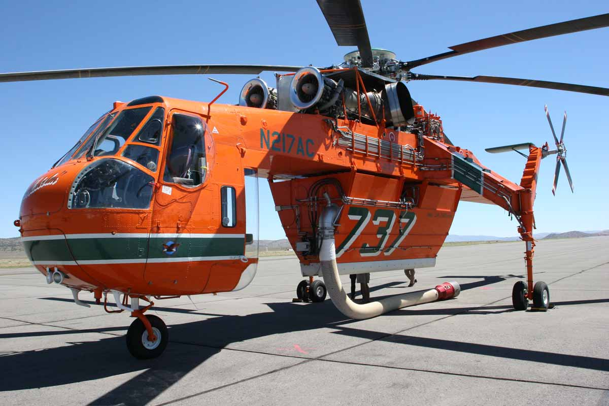 Elicottero S 64 F : A morning with malcolm the skycrane