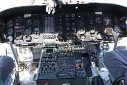 Sikorsky Skycrane cockpit.