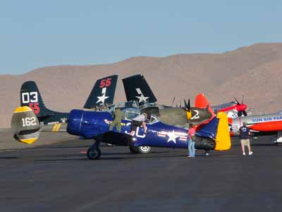 Sea Fury, Tigercat, T-33, P-38, T-6