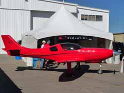 Lancair Evolution commercial display.