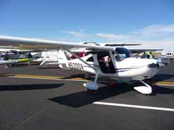 Cessna Skycatcher iin display area.