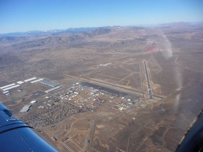 Aerial view of the Reno-Stead Airport (KRTS).
