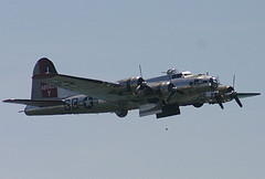B-17 bomber dropping a watermelon.