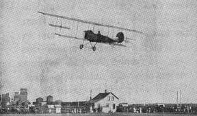 The first flight conducted in Sidney, Montana in 1915.