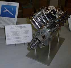 Working model of a 1917 Curtiss OX-5 aircraft engine.