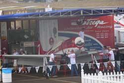 Strega, Race 7 in it's pit area
