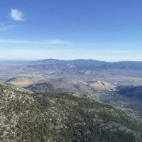 Looking toward Carson City while flying through Spooner Summit Pass