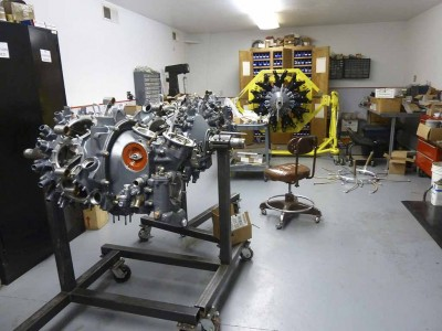 Engine build-up room at Holloway Engineering in Quincy, CA.