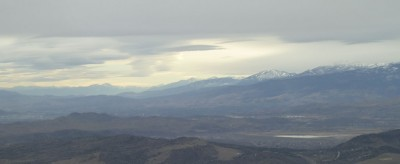 Looking South past Reno.