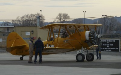The CAF N3N getting ready for a cold morning flight.