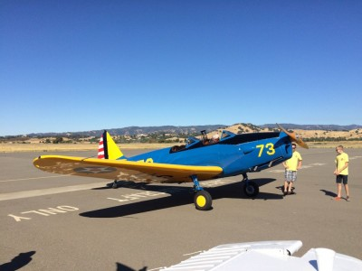 Fairchild PT-19 WWII Trainer at Vacaville (KVCB) pancake breakfast.