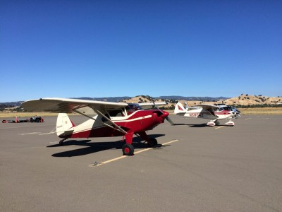 Piper Pacer and TriPacer at Vacaville (KVCB) pancake breakfast.