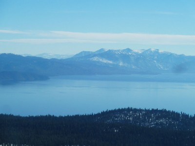 A view southward across Lake Tahoe. A bit hazy but a nice view anyway.