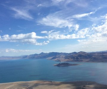 Pyramid Lake looking like the water level is trying to get back to normal - looking NE.