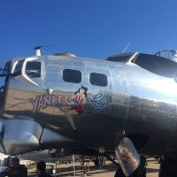 Bowing B-17 at show center.